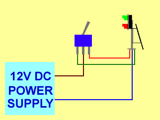 changeover switch wited to two aspect colour light signal