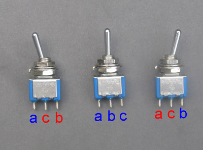single pole double throw switches for model railways