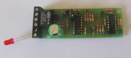 The IRDOT-2 is a circuit board with 6 screw terminals along the narrow end